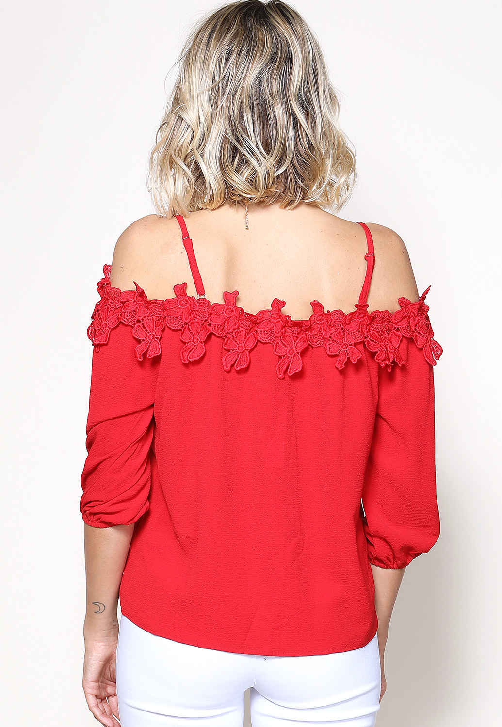 Floral Crochet Detail Top