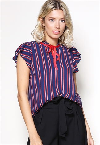 Vertical Striped Dressy Top