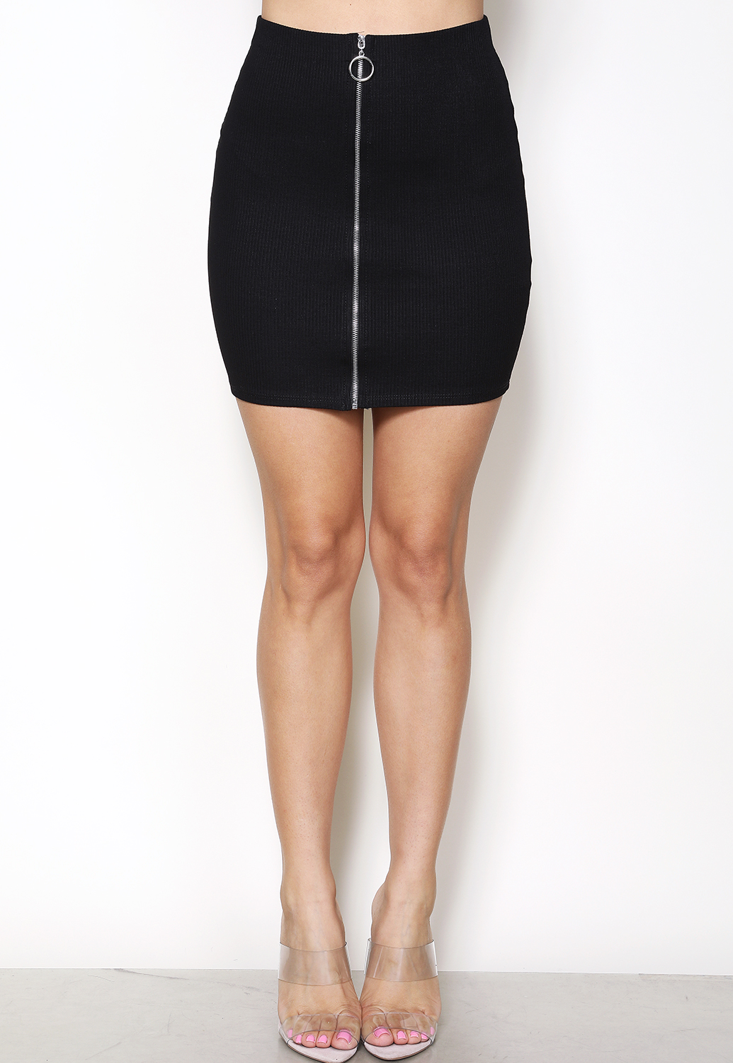 Zip-Up Bodycon Skirt