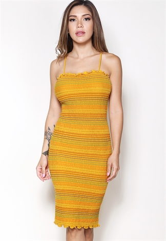 Multi Color Striped Mini Dress