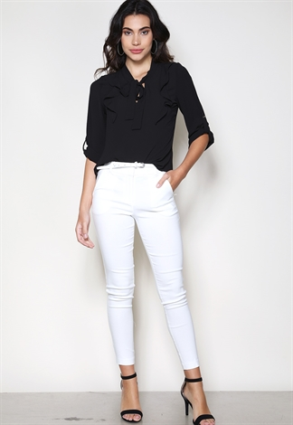 Belted Ankle Dressy Pants