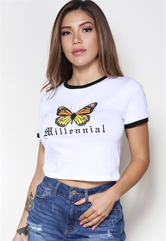 Butterfly Print Tee