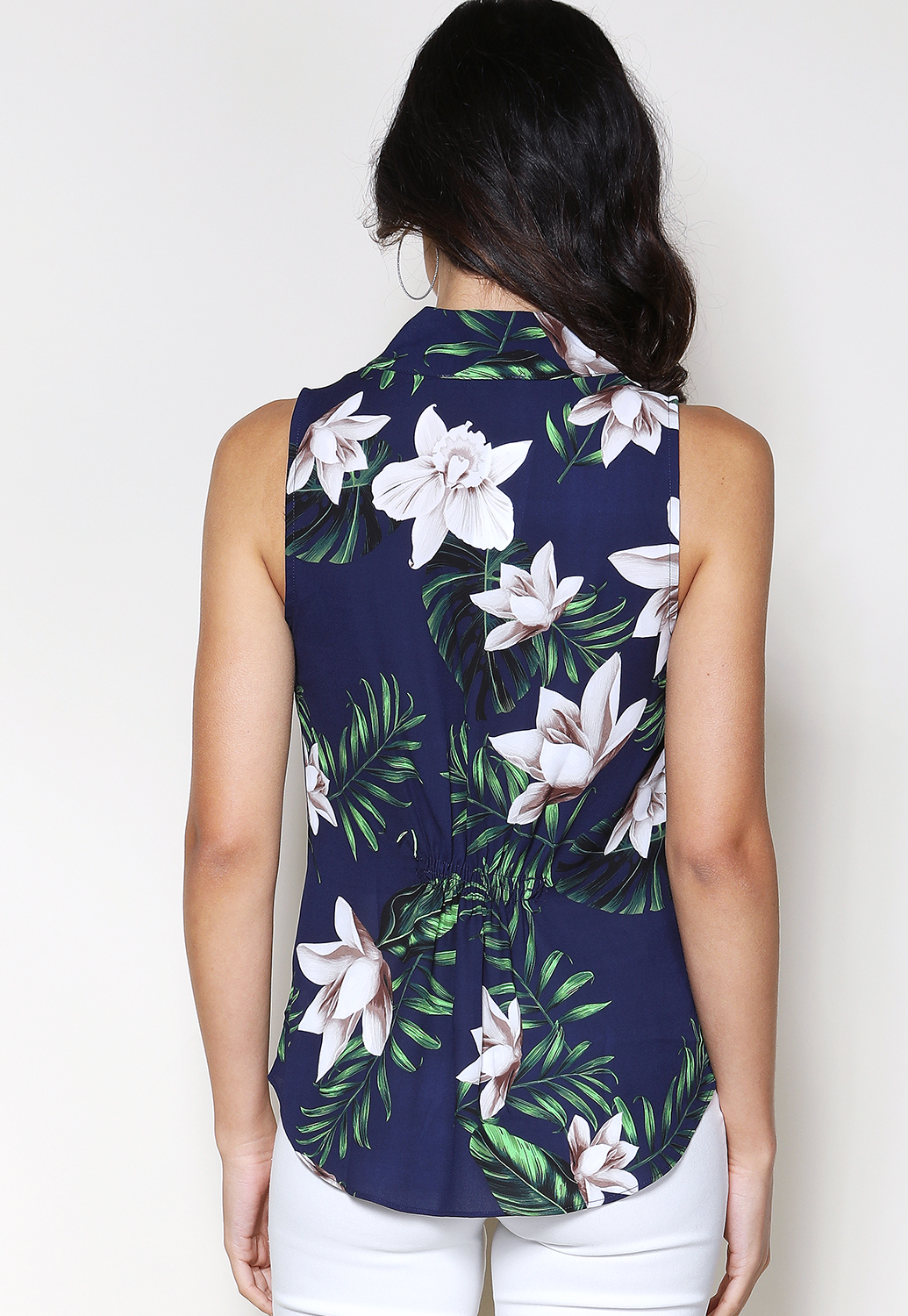 Tropical Print Dressy Top