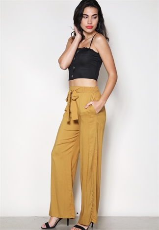 Tie Front Casual Pants