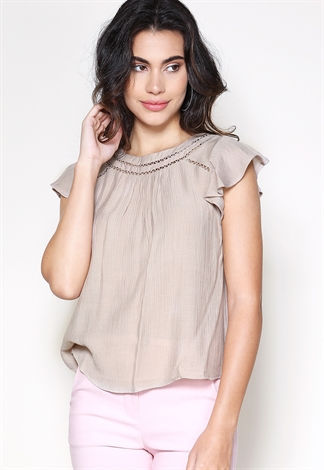 Ruffle Detail Dressy Top