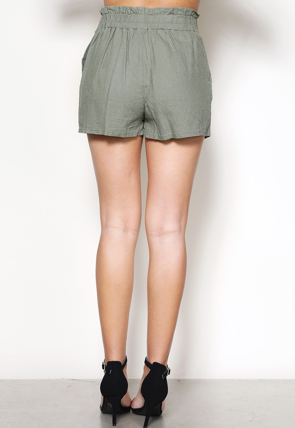 Tie Front Dressy Shorts