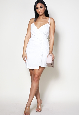Front Ruched Detail Mini Dress