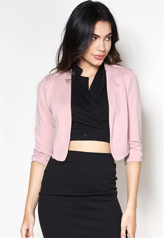 Back Zipper Detail  Crop Blazer