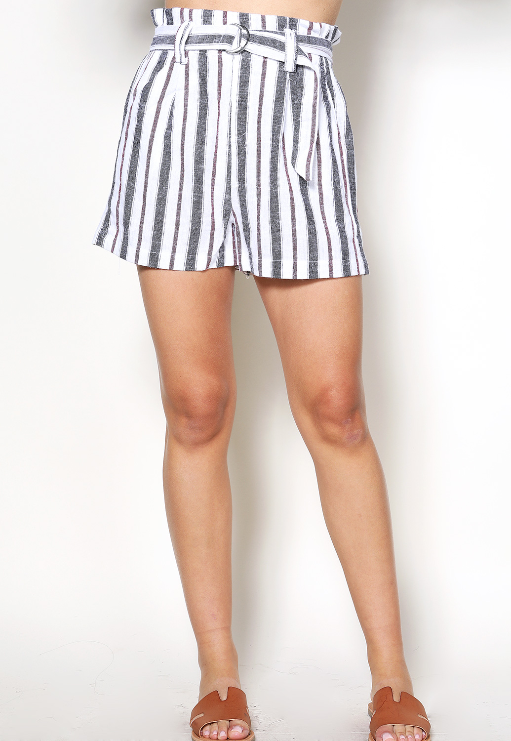 Vertical Striped Dressy Shorts