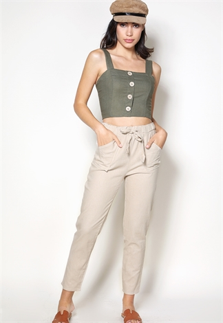Front Tie Casual Pants