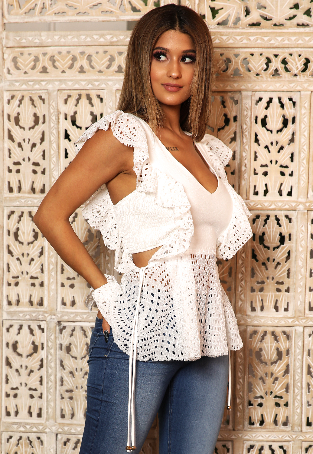 Gianna Ruffle Top