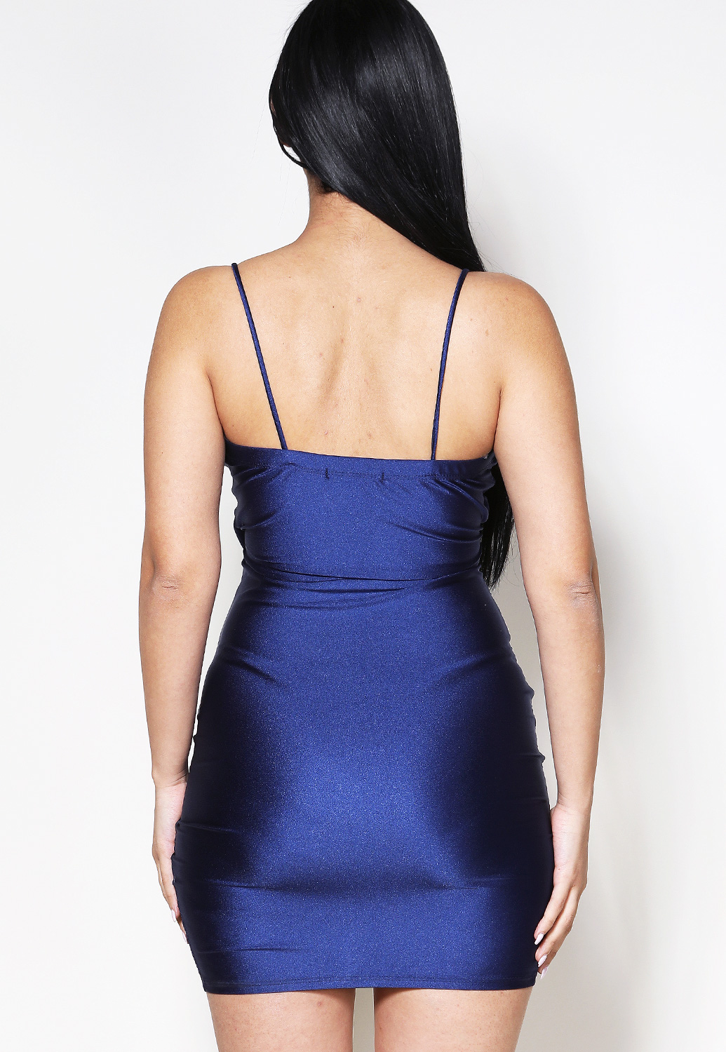 Side Ruched Satin Mini Dress