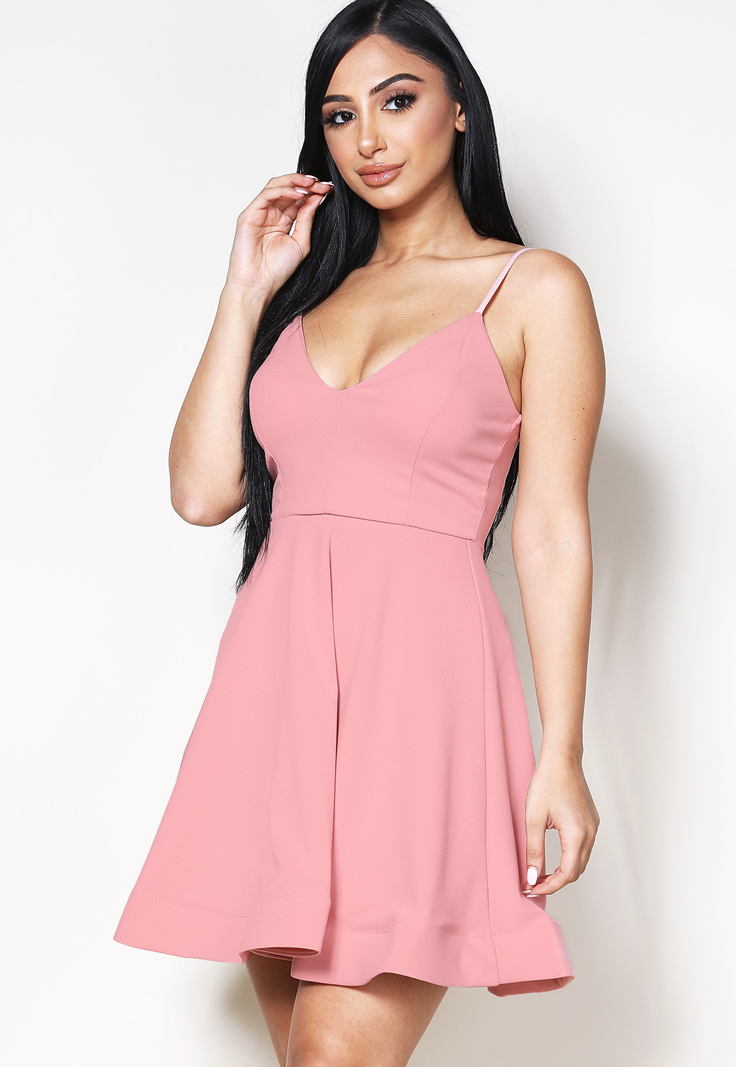Fit And Flare Mini Dress