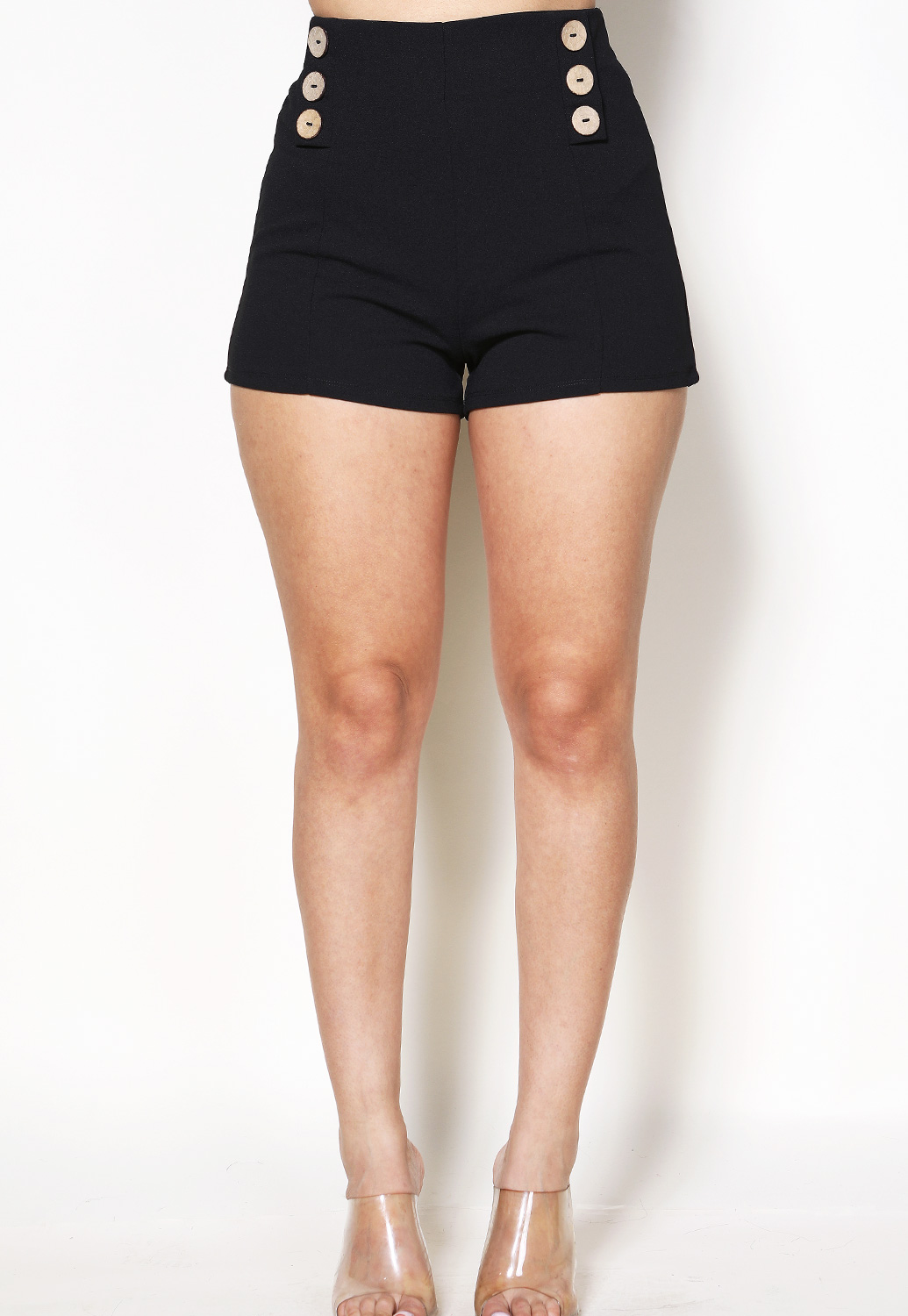 Button Detail Shorts