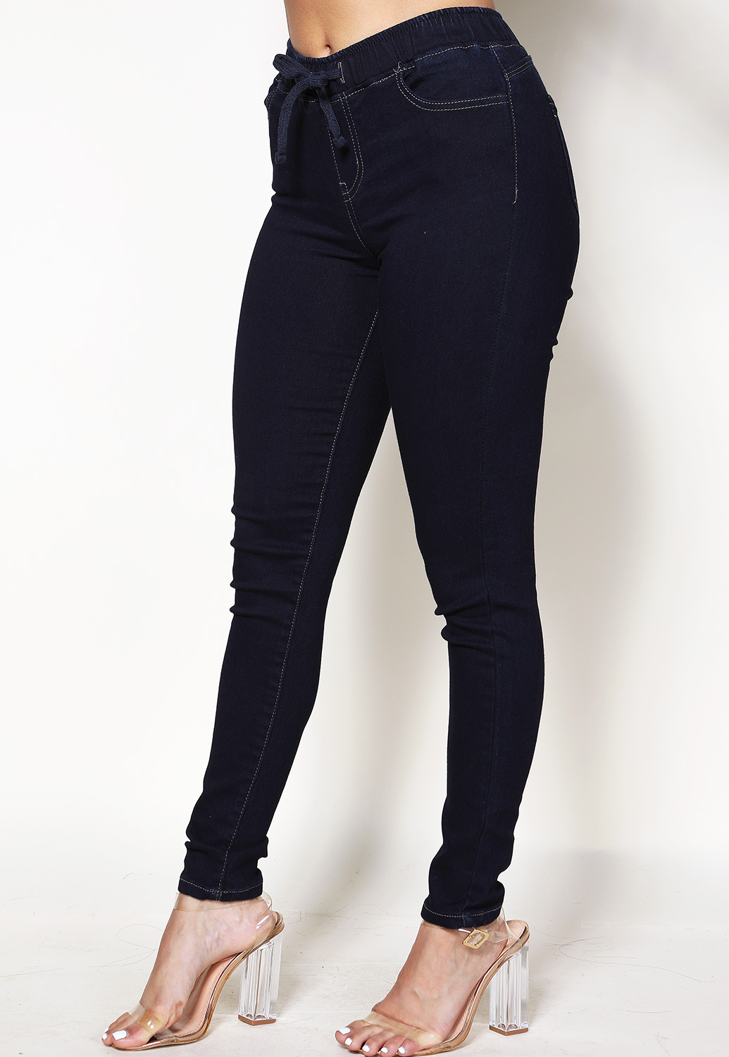 Drawstring Stretch Pants