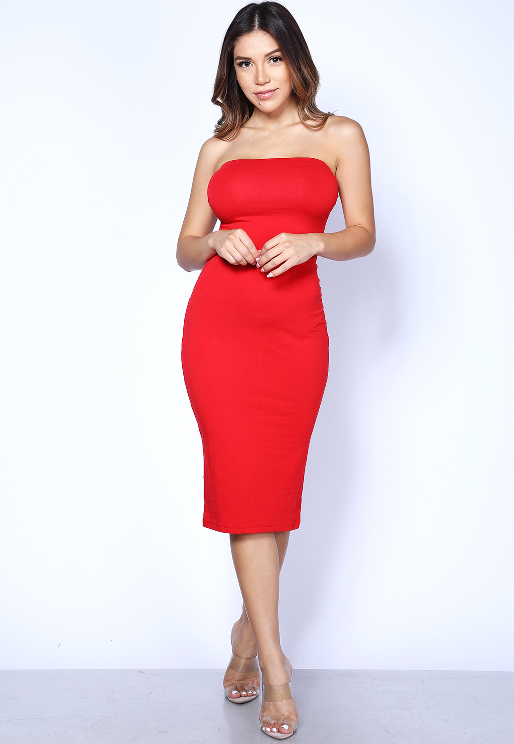 Solid Tube Bodycon Dress