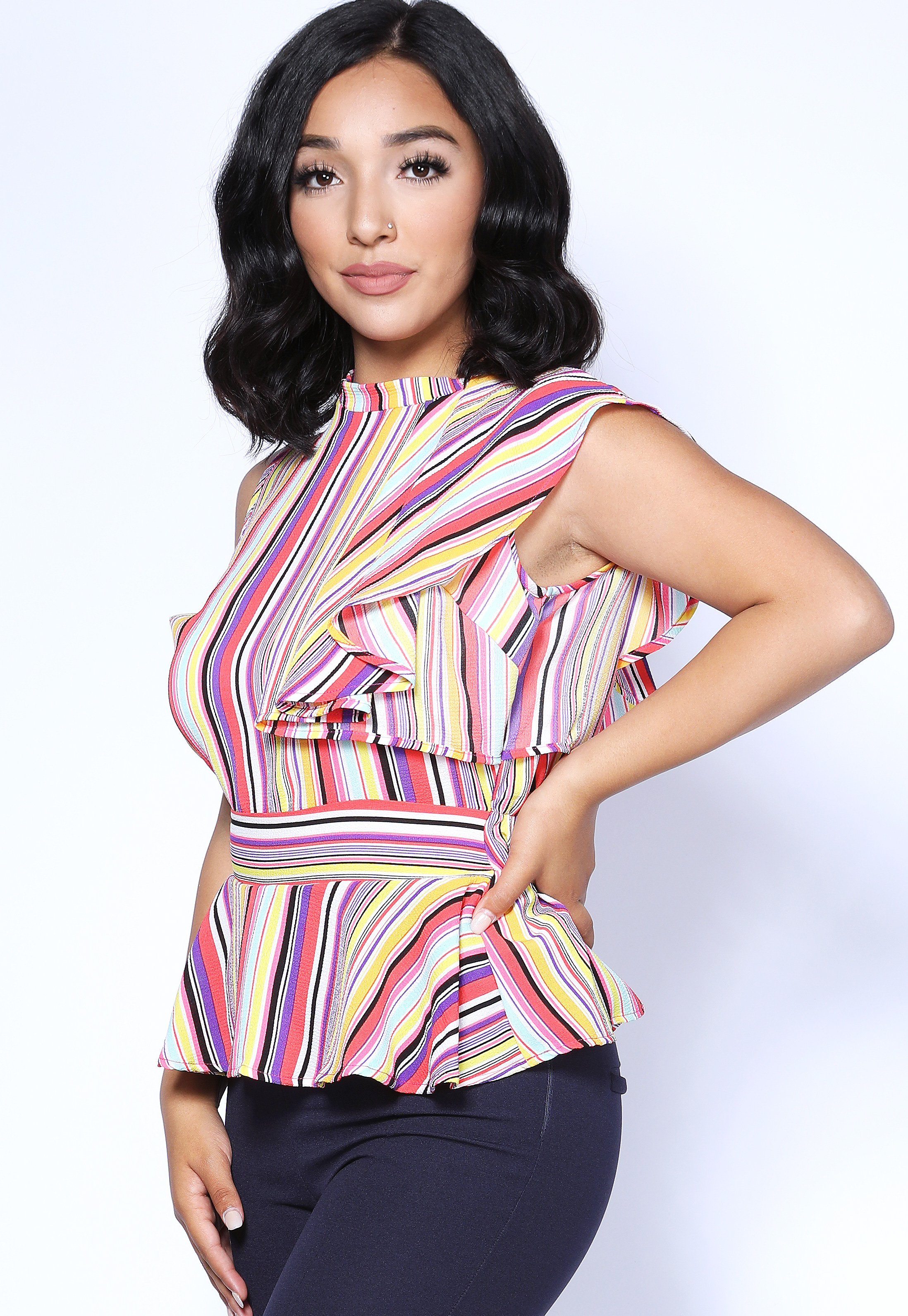 Multi Color Striped Top