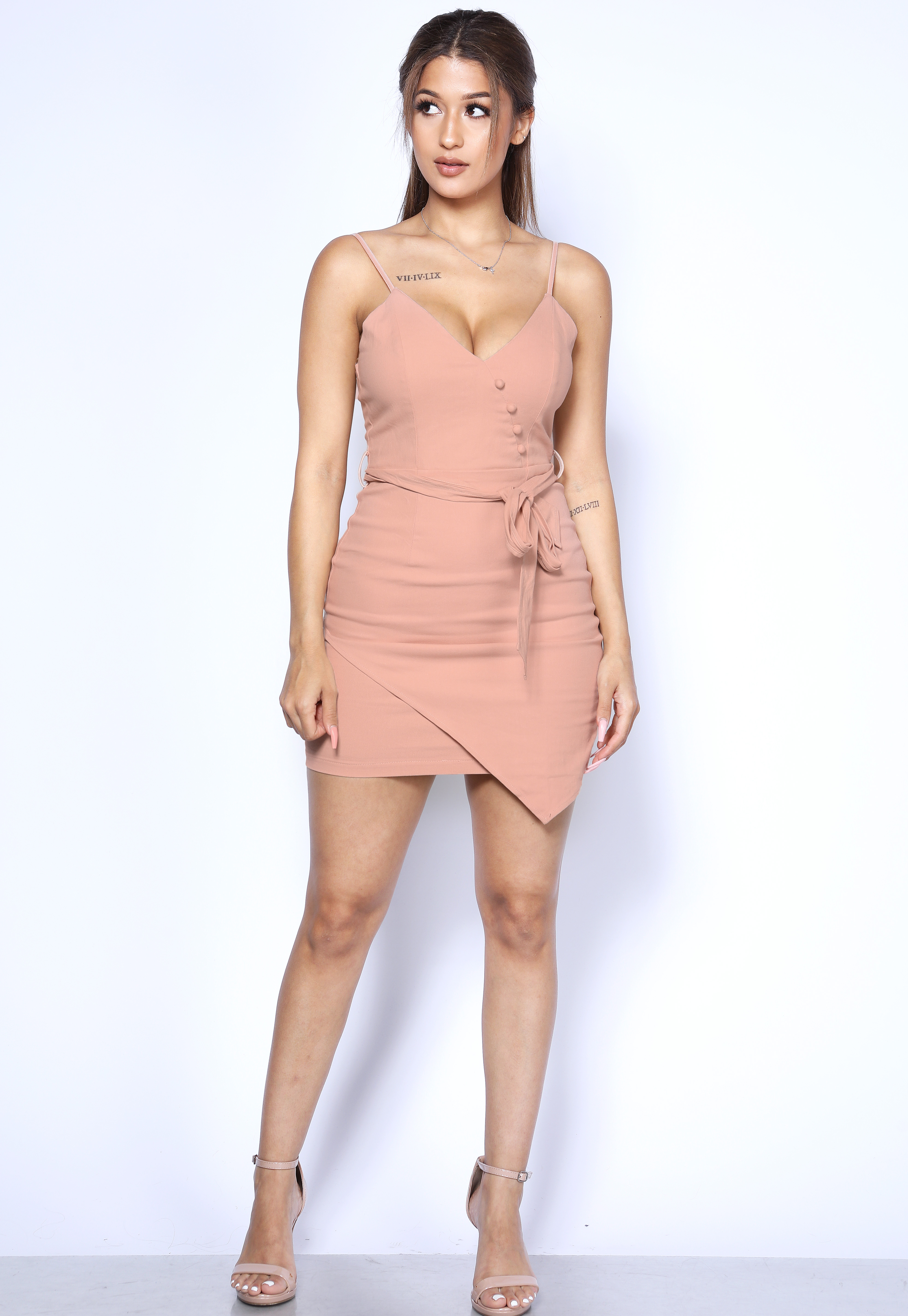 Asymmetrical Mini Dress