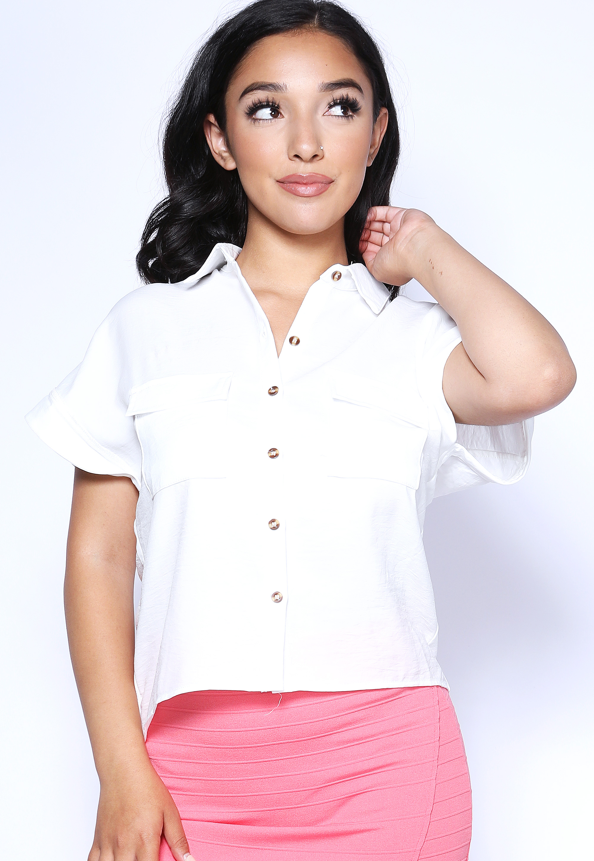 Dressy Button Up Top