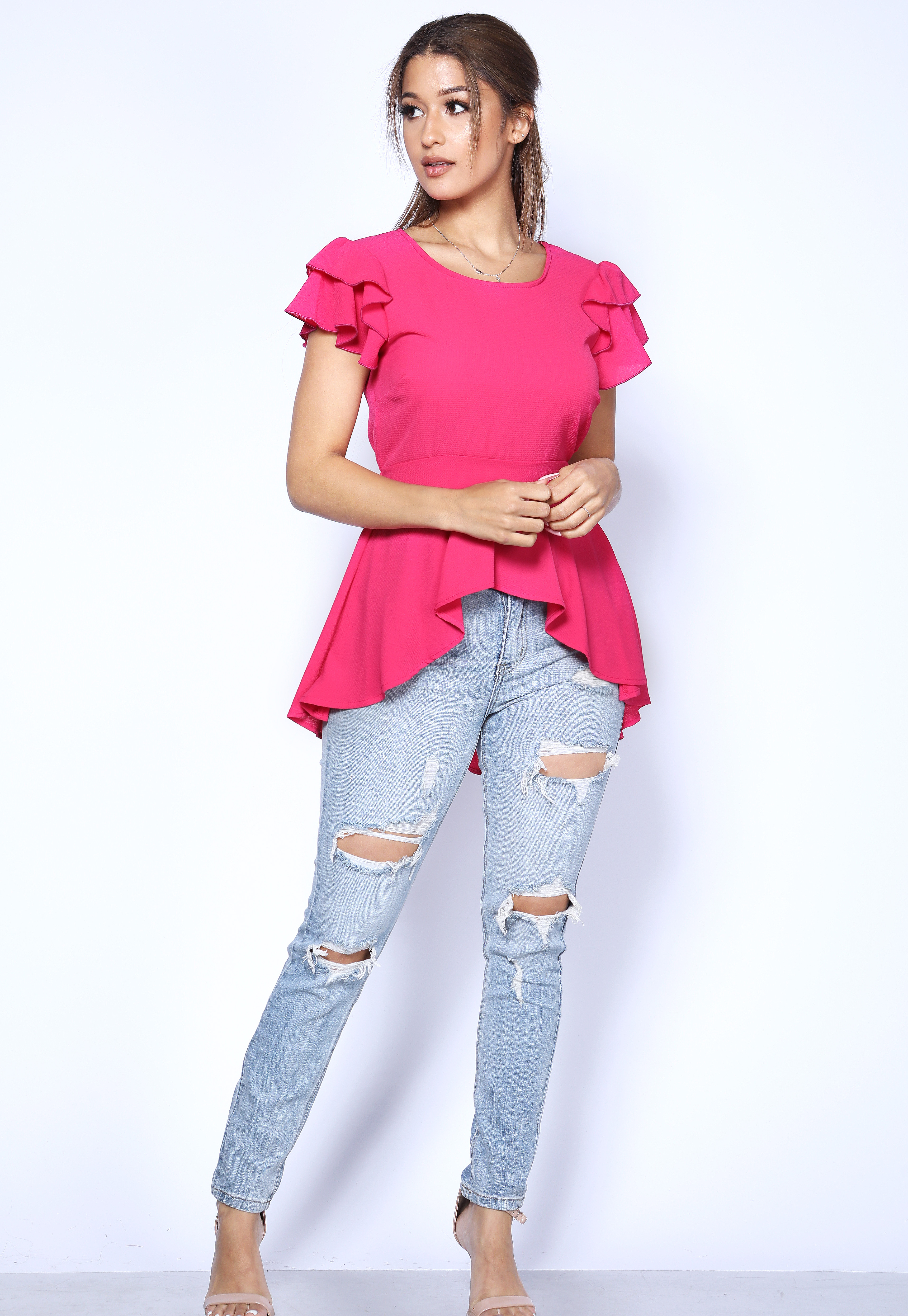 High Low Flare Top