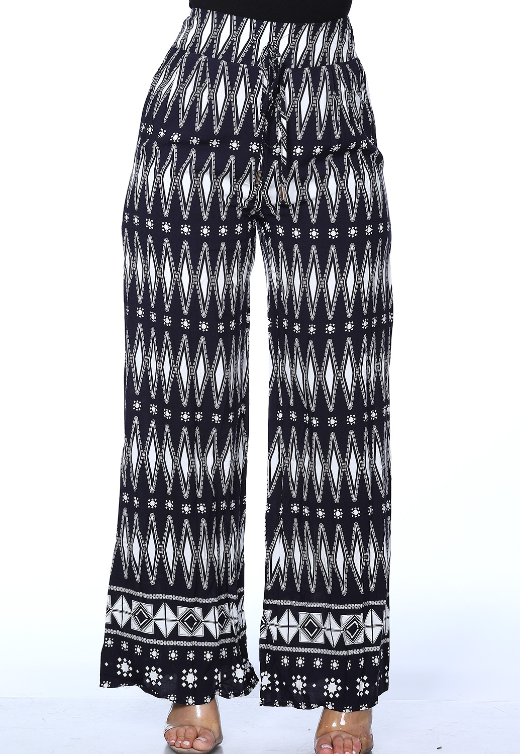 Abstract Print Palazzo Pants