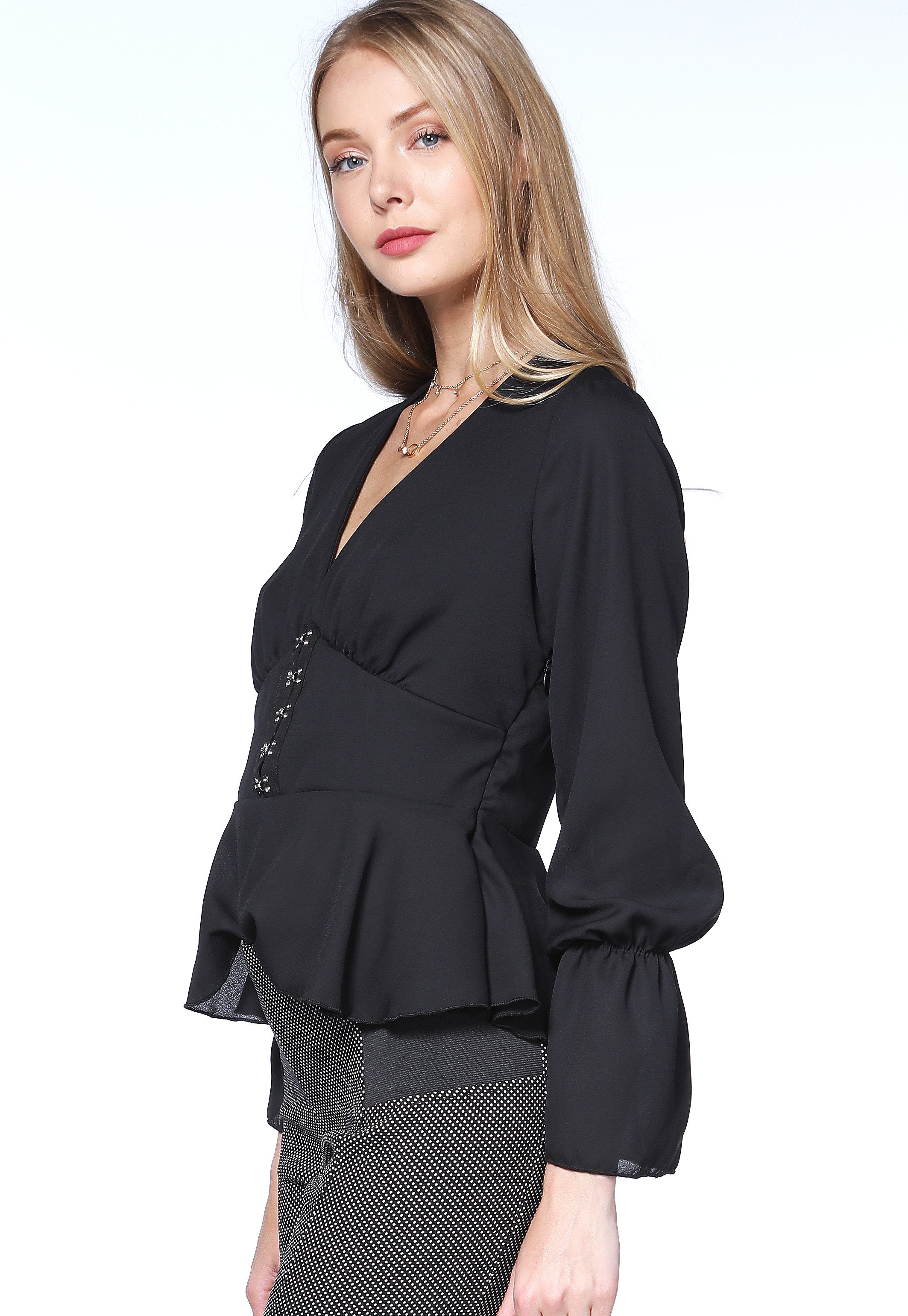 Hook-And-Eye Dressy Top