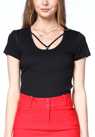 Front Cross Casual Top