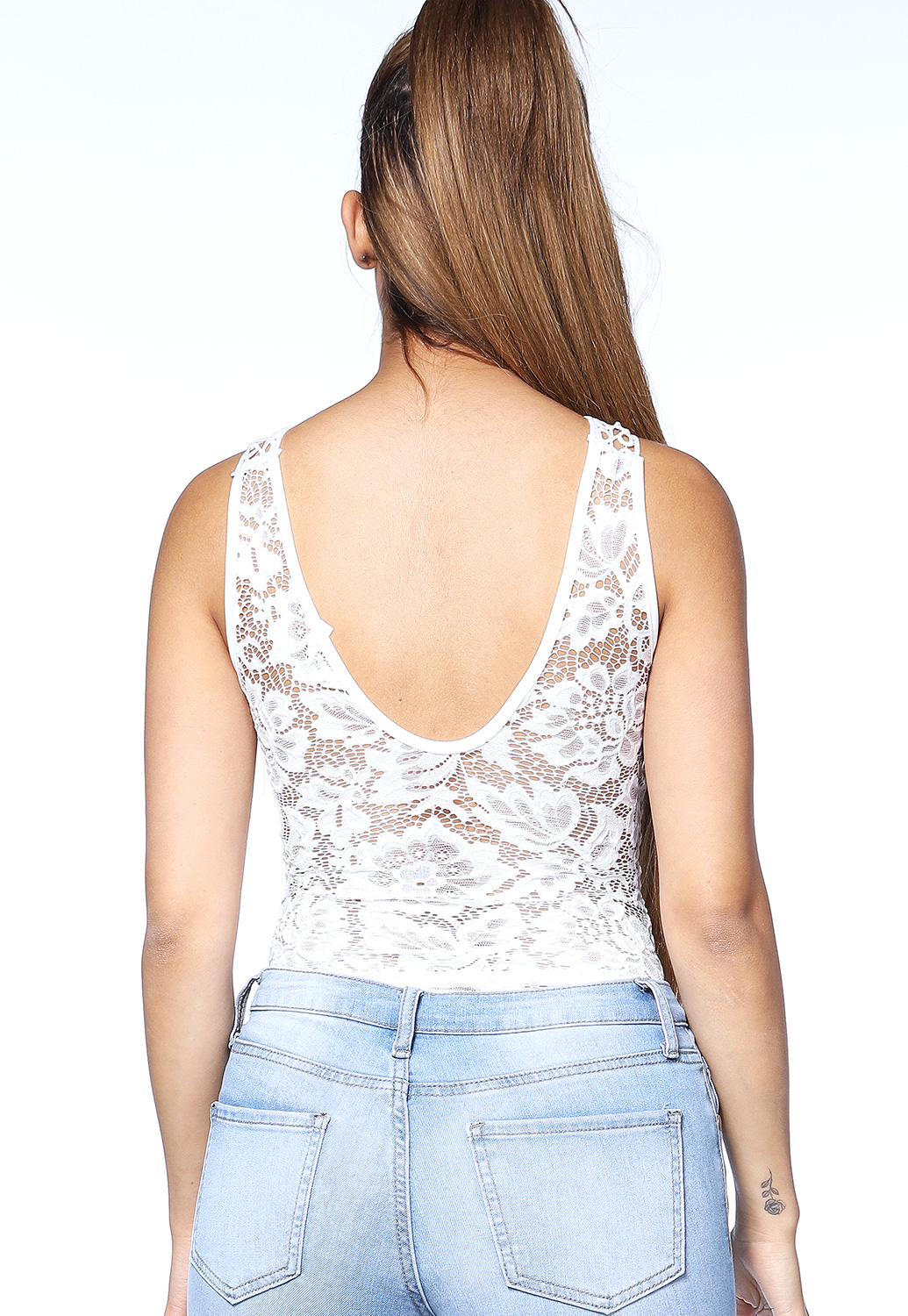 Lace Trim Bodysuit