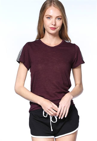 Activewear Striped Detail Top