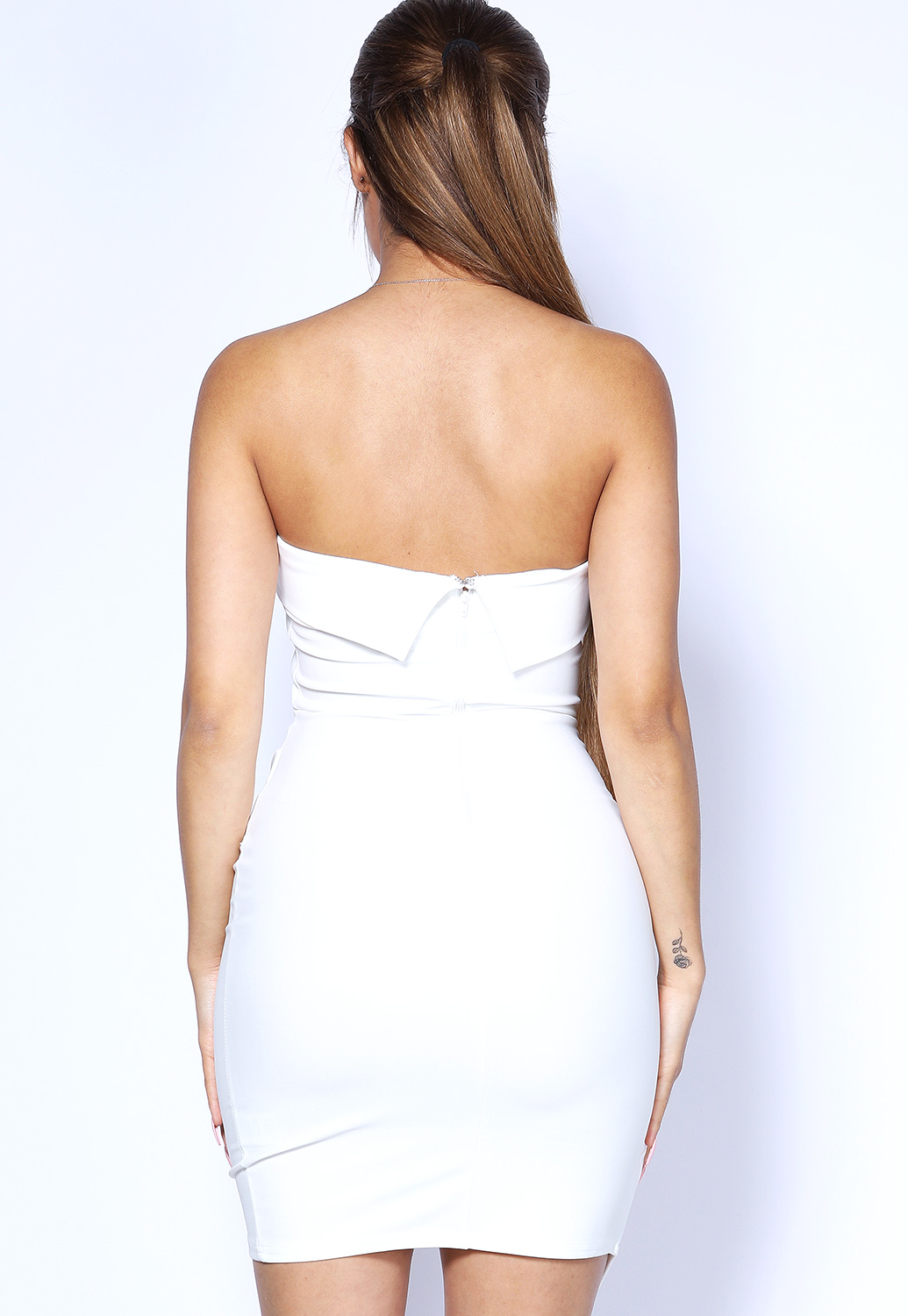 Strapless Asymmetrical Dress
