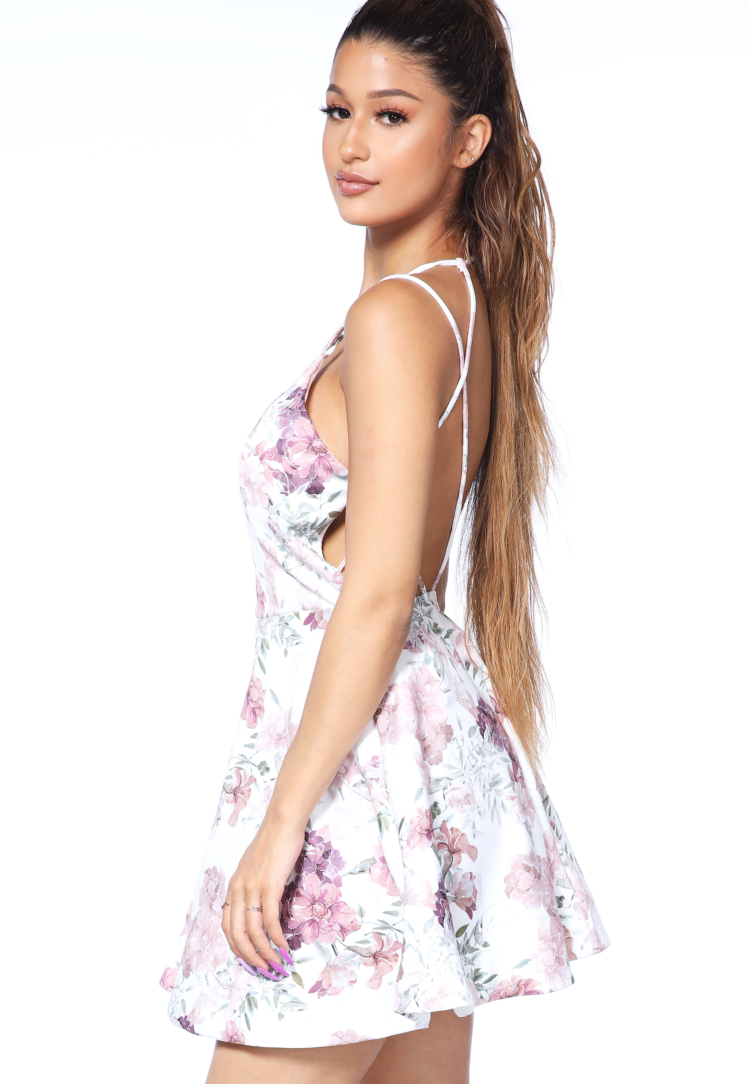 Floral Fit And Flare Mini Dress