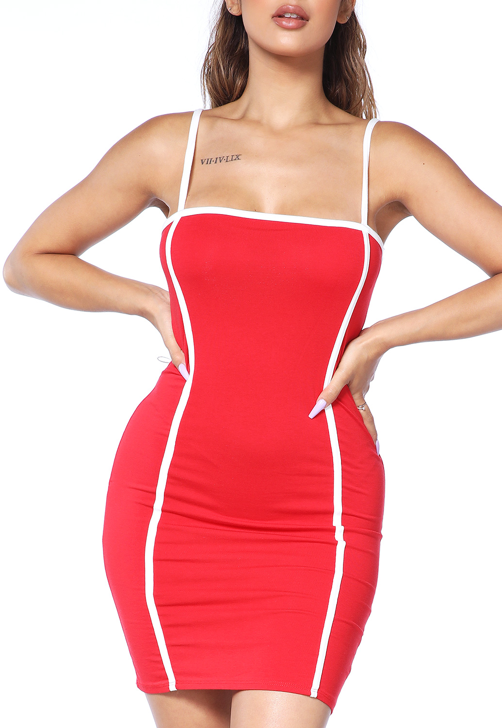 Front Lined Bodycon Dress