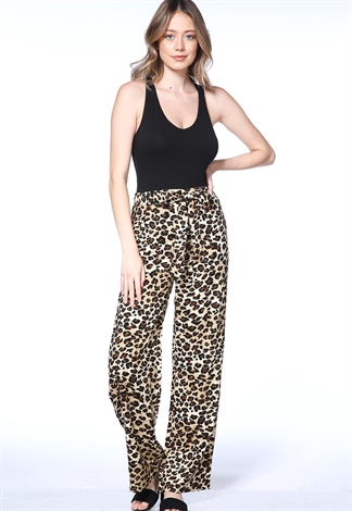 Cheetah Print Casual Pants