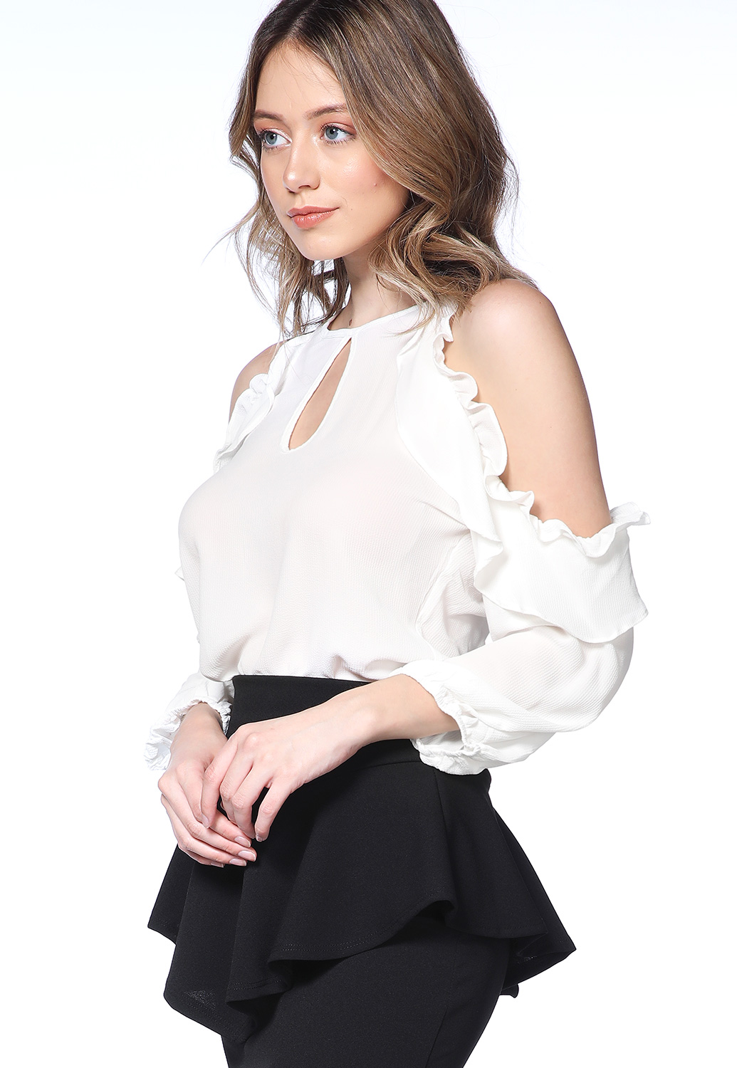 Open Shoulder Dressy Top