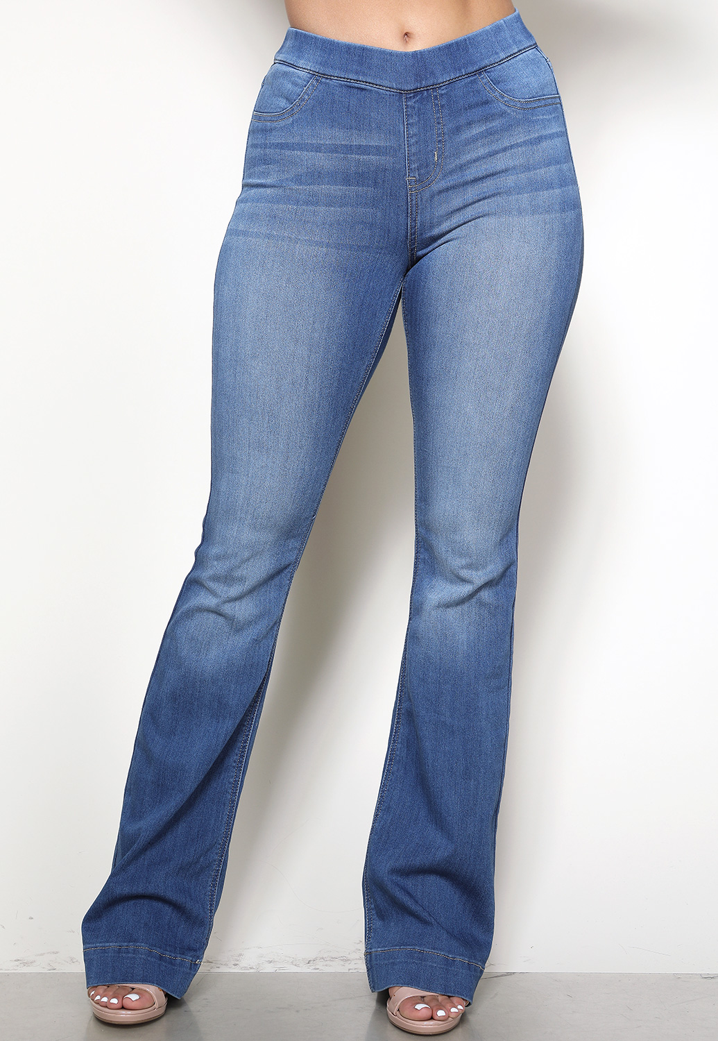 High Rise Flare Denim Pants