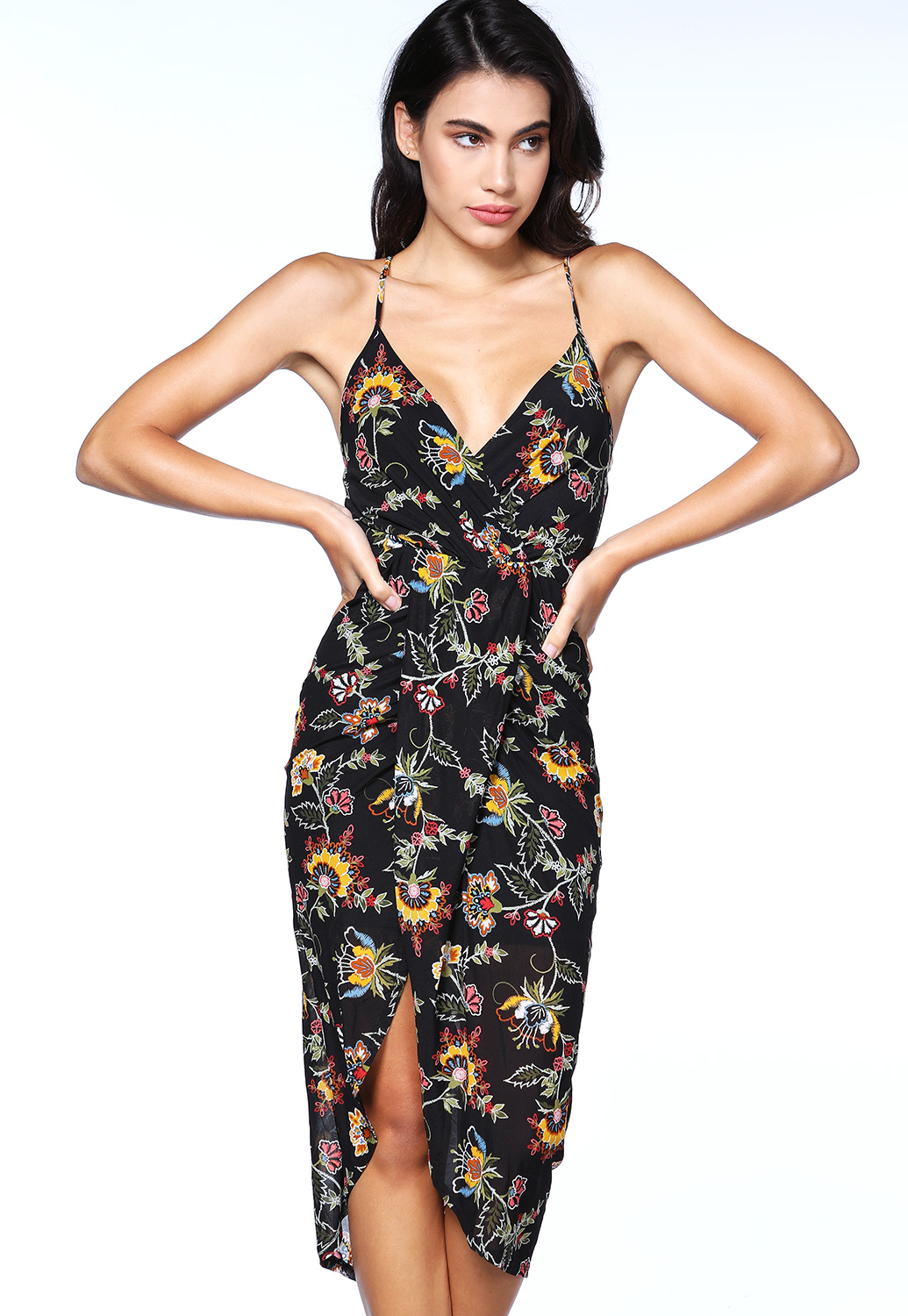 Floral Cross Back Dress
