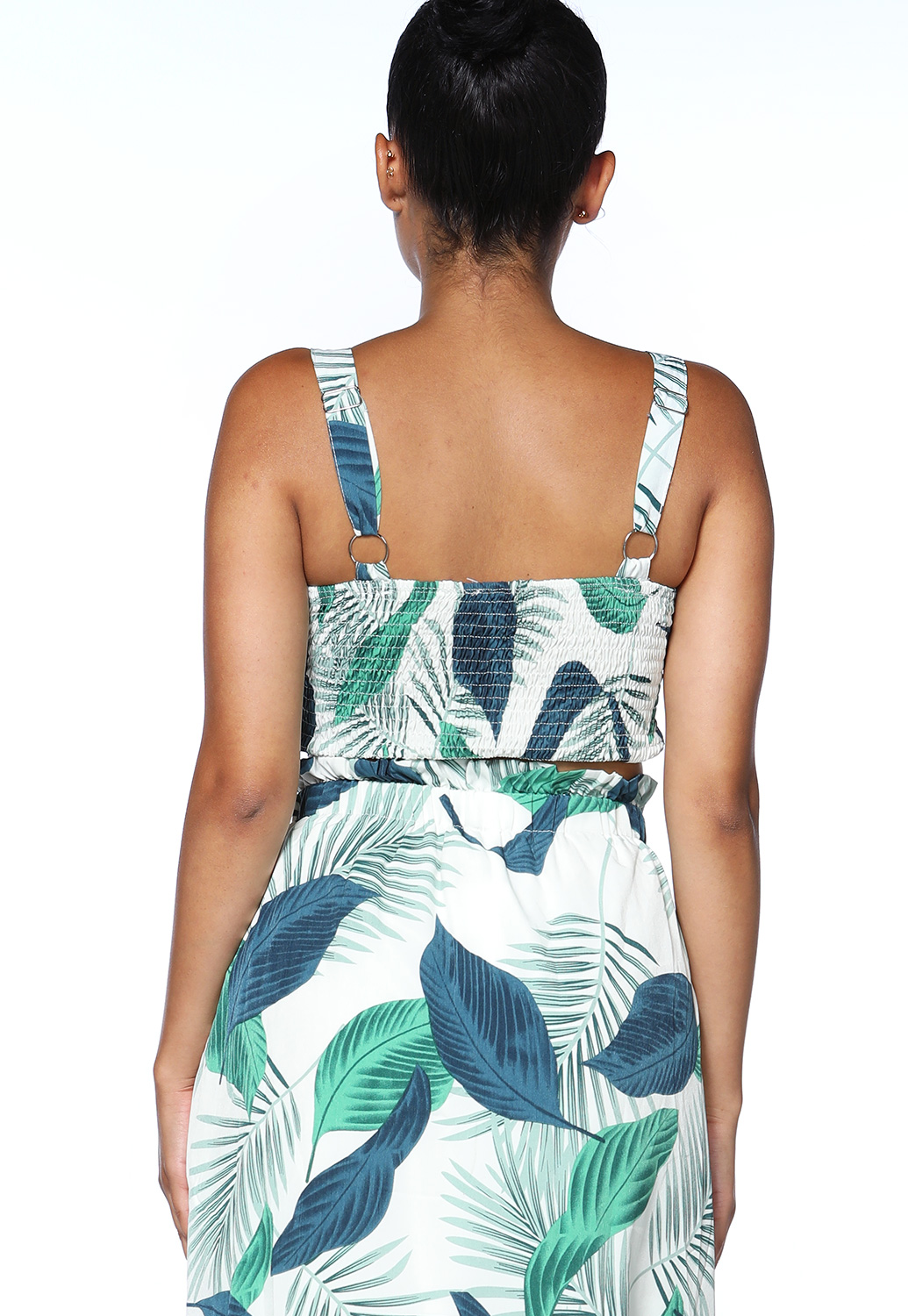 Leaf Print Crop Top