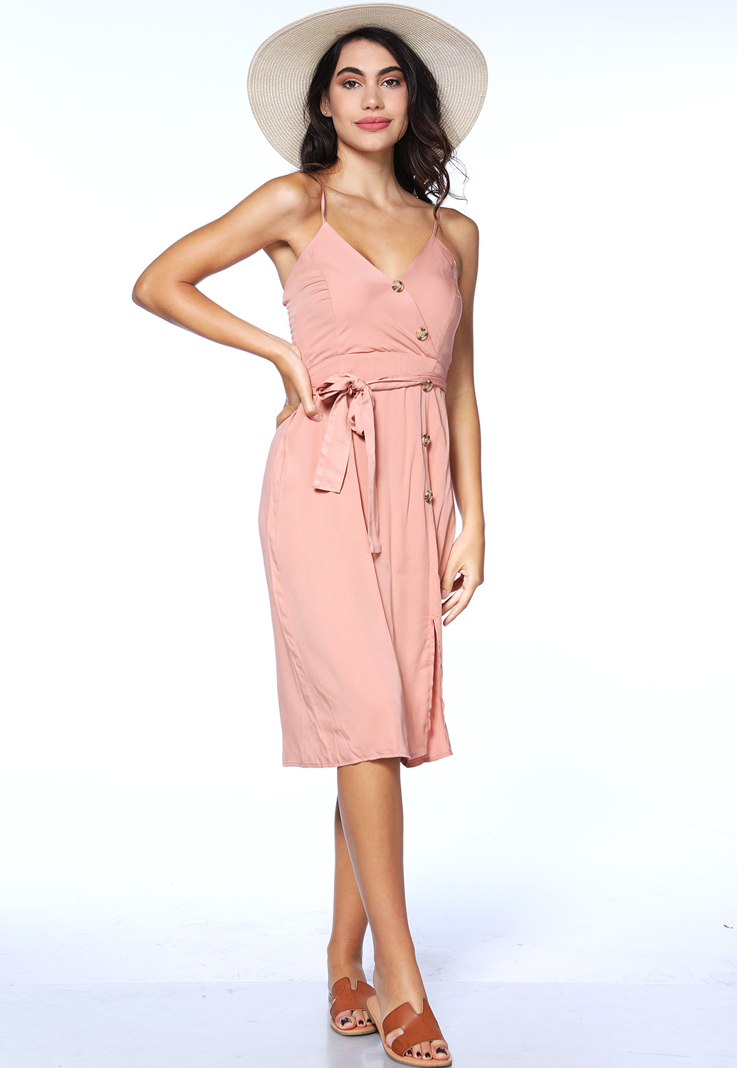 Surplice Tie Front Dress