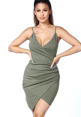 Ruched Detail Mini Dress