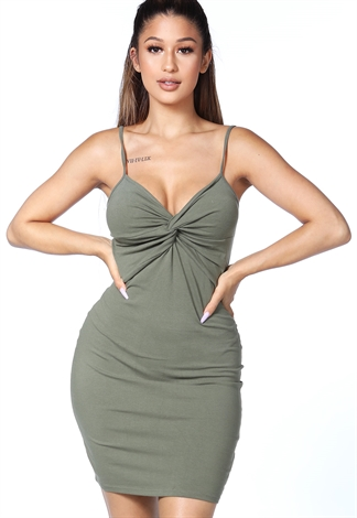 Twist Front Mini Dress
