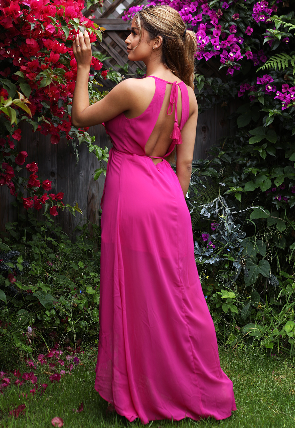 High Low Trim Maxi Dress