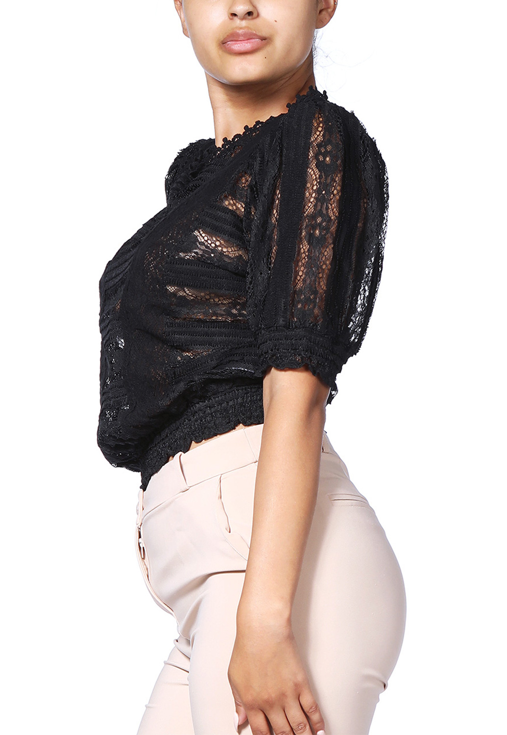 Sheer Lace Dressy Top