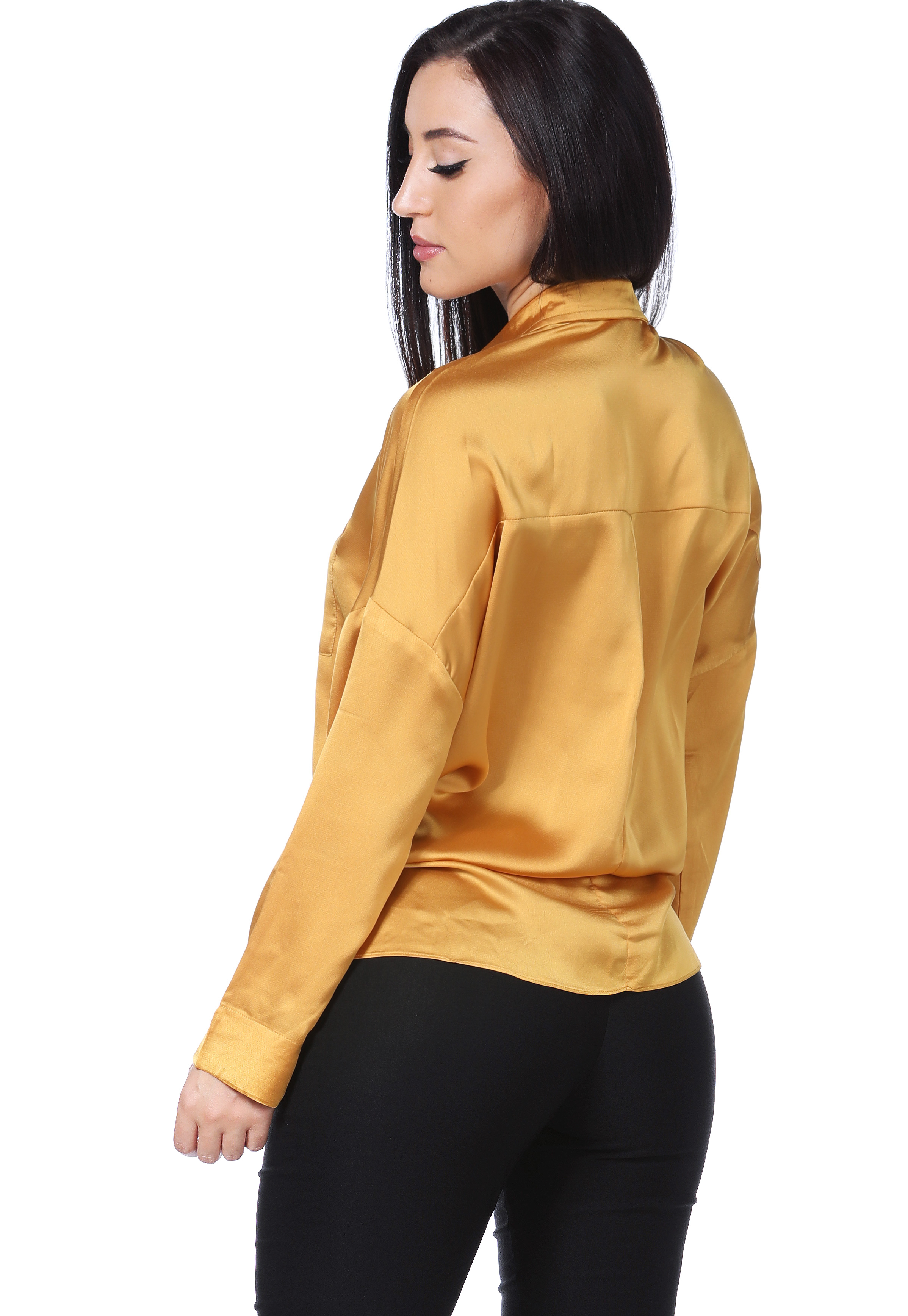 Satin Long Sleeve Blouse