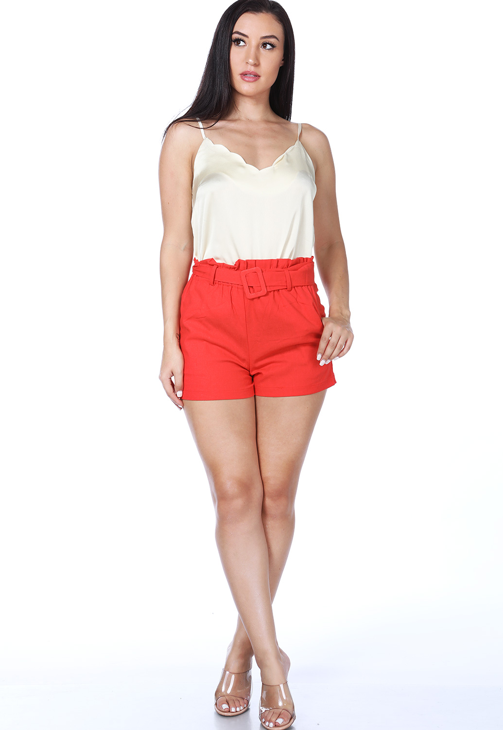 Belted Detail Shorts