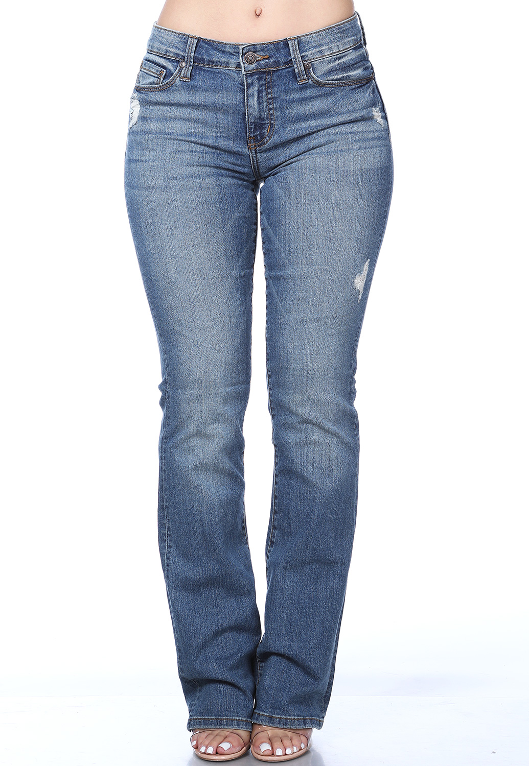 Low Rise Bootcut Denim Jeans