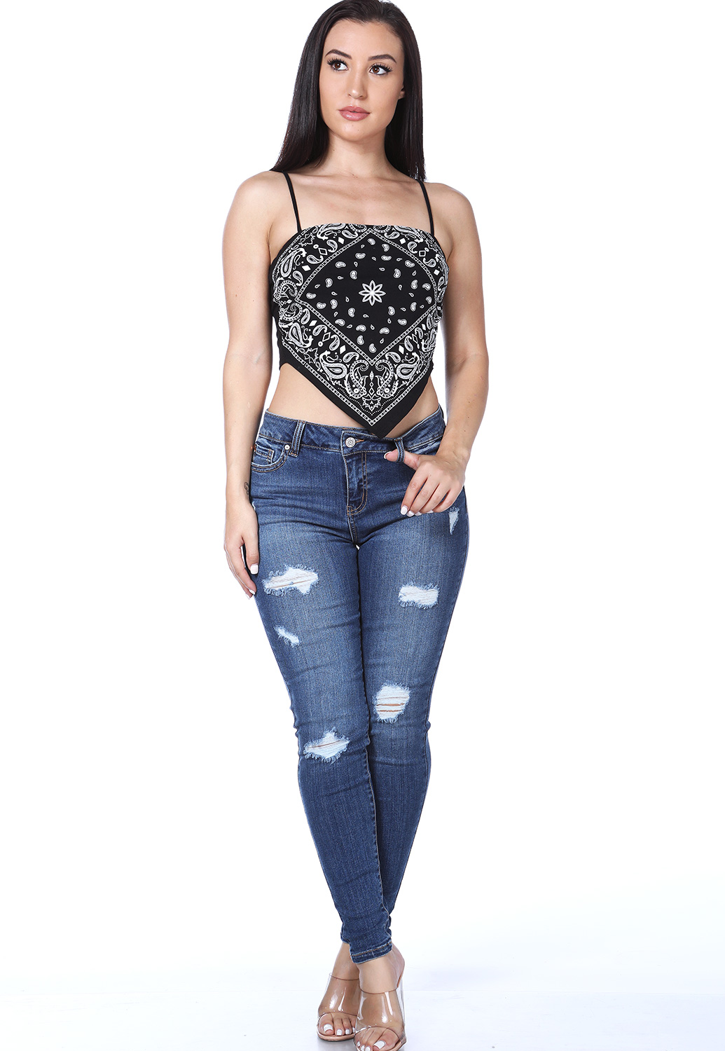 Distressed Detail Denim Skinny