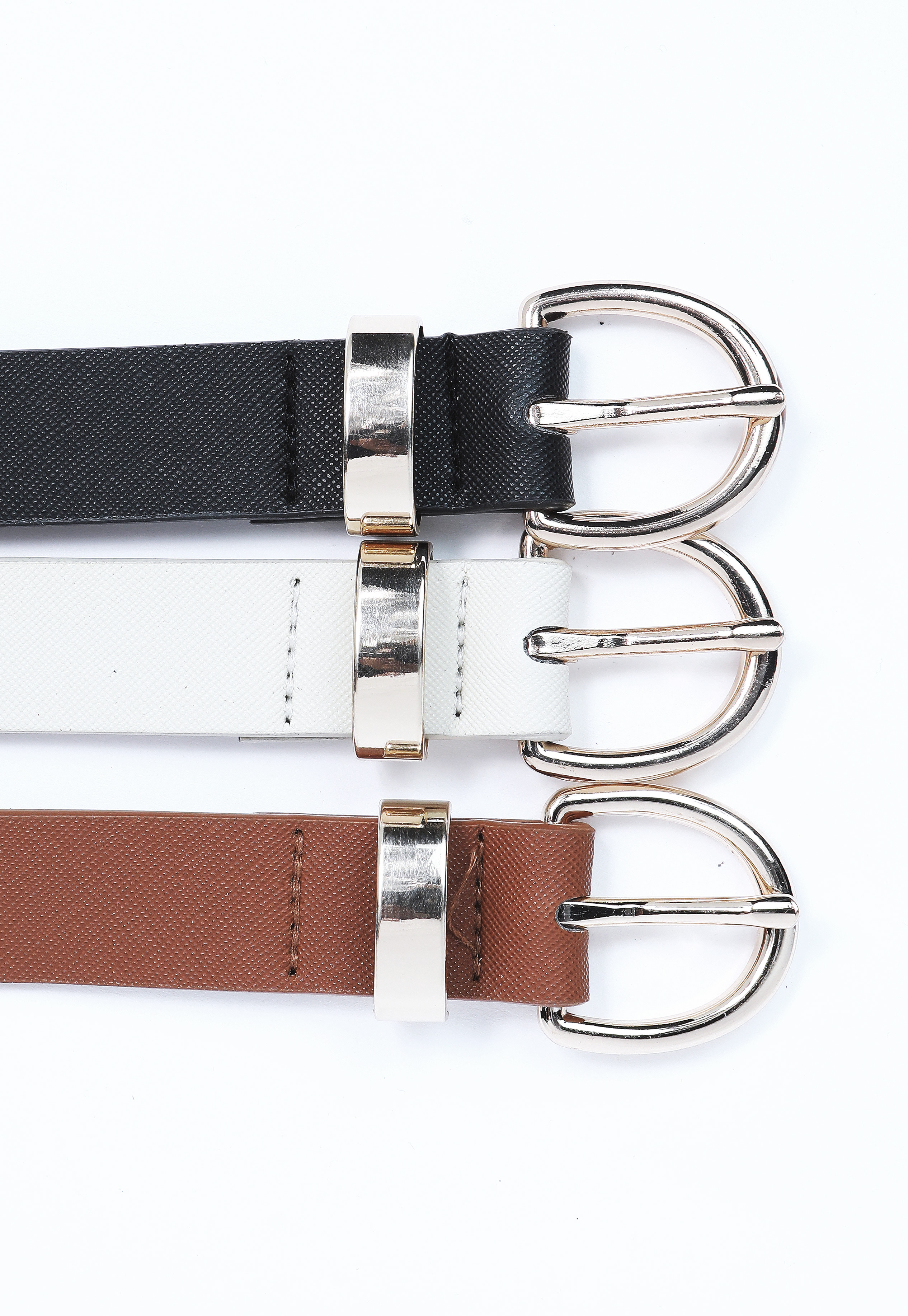 Faux Leather Belt Set