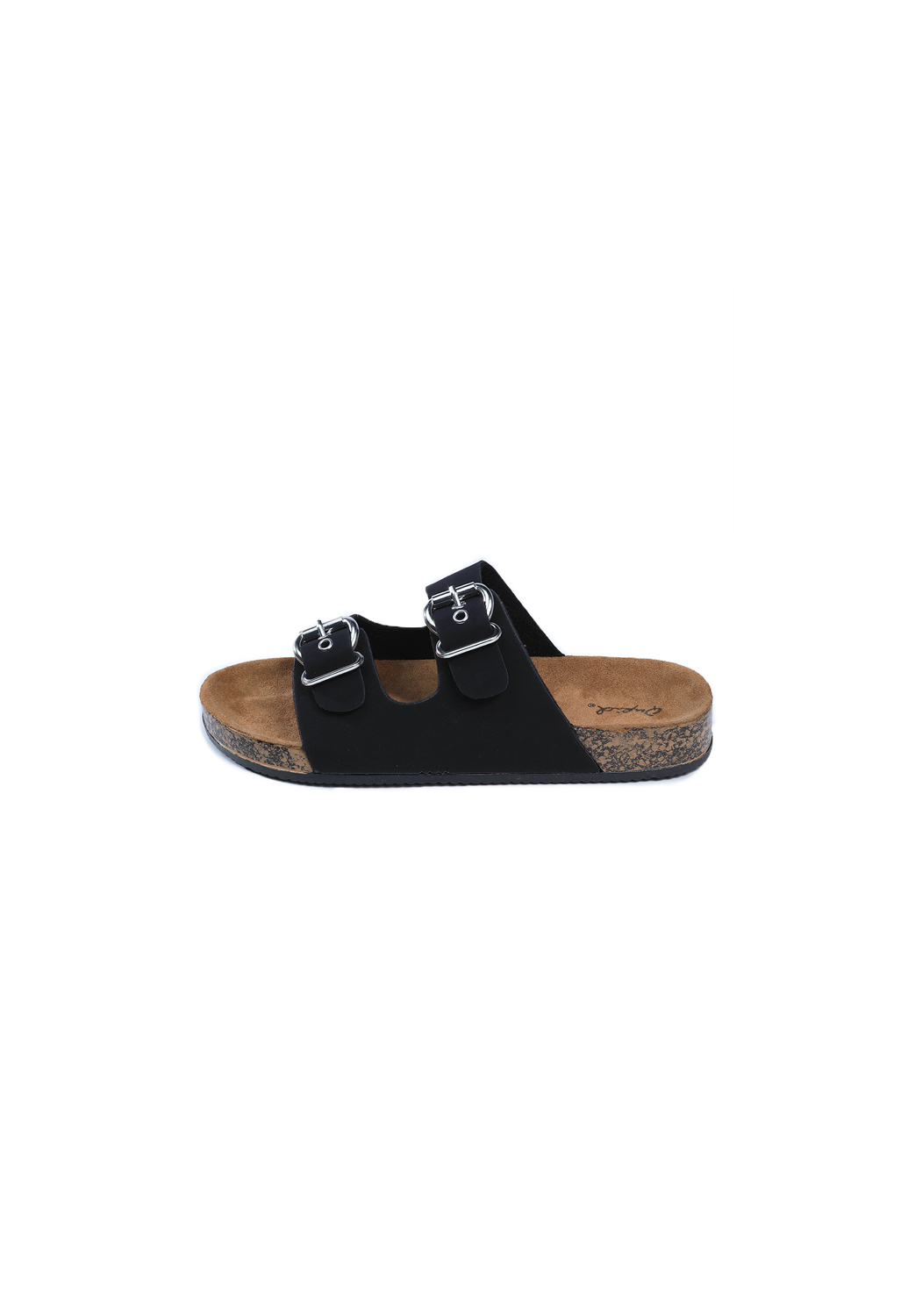 Faux Leather Buckle-Strap Slides