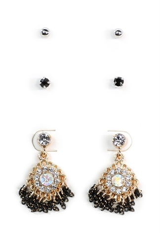 Chandelier And Stud Earring Set