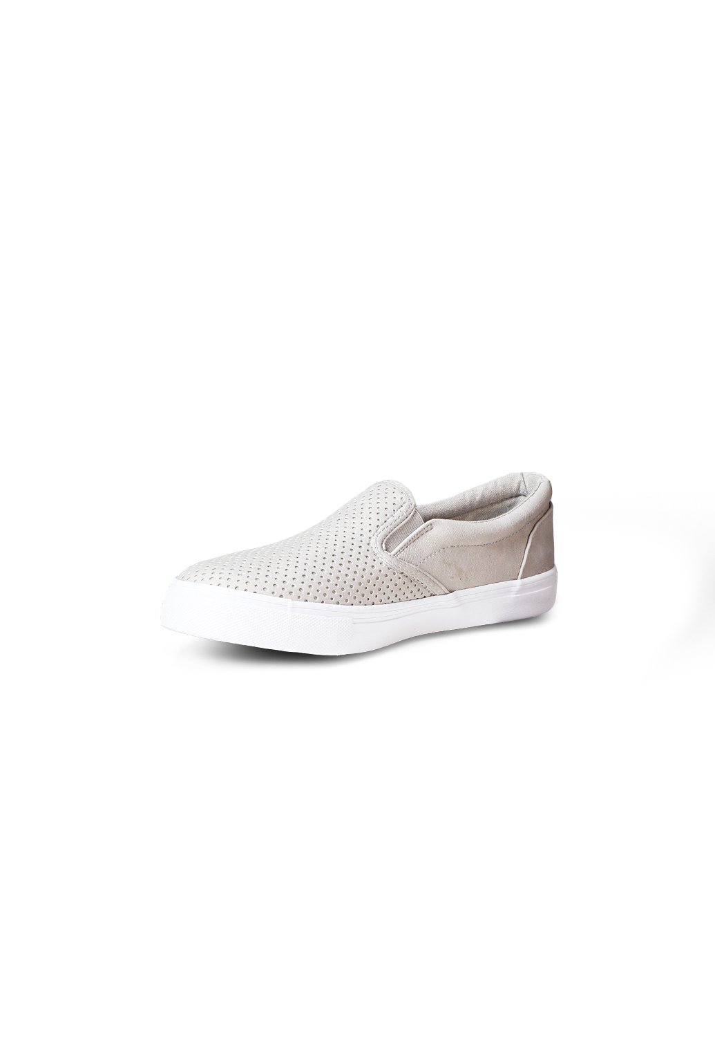 Perforated Faux Leather Slip-On